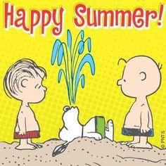Happy Summer! #Summer #Sun #Beach #Sprinklers #Snoopy #CharlieBrown #Linus #Peanuts