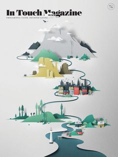 In Touch (USA) - Coverjunkie In Touch magazine illustration by Eiko Ojala Art direction Eric Caposella from Metaleap Creative Cut Paper Illustration, Magazine Illustration, Magazine Layout Design, Magazine Cover Design, Eiko Ojala, Libros Pop-up, Magazin Design, Papier Diy, Plakat Design