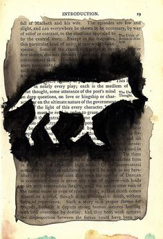 use of stencil - could be part of street art/graffiti unit Altered Books Pages, Altered Book Art, Old Book Pages, Old Books, Kunstjournal Inspiration, Art Journal Inspiration, Art Et Illustration, Illustrations, Book Page Art