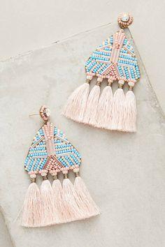 Deepa Gurnani Lupita Fringe Drop Earrings