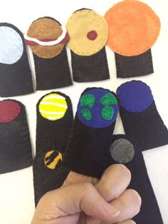 Space finger puppets  planets  solar system by HeartFeltCraft1
