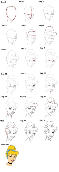 10 Disney How To Drawings – Brighter Craft – Zeichnung Easy Disney Drawings, Disney Princess Drawings, Disney Sketches, Easy Drawings, Tutorial Draw, Disney Drawing Tutorial, Pencil Art Drawings, Cartoon Drawings, Drawing Sketches
