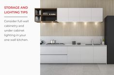 One Wall Kitchen Layouts - Design, Tips & Inspiration One Wall Kitchen, Kitchen Cabinet Kings, Kitchen Images, Kitchen Designs, Simple Floor Plans, Kitchen Layout Plans, Under Cabinet Lighting, Dream Bathrooms, Kitchen Flooring