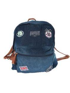 Mochila vaquera con aplicaciones y correas en símil piel Jeans Store, Kanken Backpack, Backpacks, Denim, Bags, Fashion, Shopping, Texans, Riders Jacket