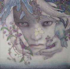 2013-2014 | Atsuko Goto – Portfolio. Cotton, Glue, Pigments, Gum arabic, Japanese ink, Lapis-lazuli