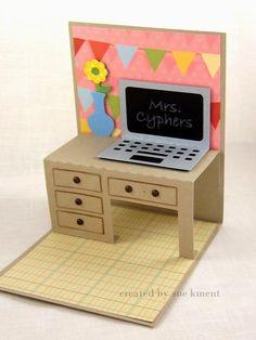 Sue's Stamping Stuff: Pop Up Teacher Desk Cards.!