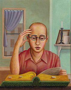 """Rick & Brenda Beerhorst 2006 """"Man Reading"""""""