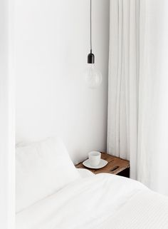 white galore + exposed bulb