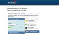 Capital One Credit Card Login to access online account