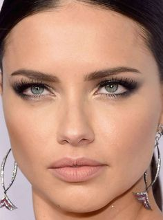 Close-up of Adriana Lima at the 2016 amfAR New York Gala. #ad