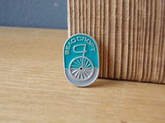 Soviet PIN Bilycle / Vintage BADGE /  Made in USSR / by EUvintage
