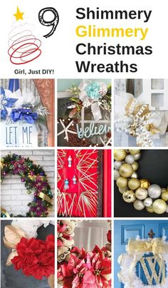 Sparkly Christmas Wreaths 9 Projects to Inspire Girl Just DIY! Sparkly Christmas Wreaths are a fun DIY project to add shine to your front door. Popsicle Stick Christmas Crafts, Christmas Crafts For Toddlers, Diy Christmas Gifts, Christmas Fun, Holiday Crafts, Christmas Wreaths, Christmas Decorations, Holiday Ideas, Valentine's Day Quotes