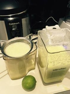 Batido pepino -piña-lechosa-apio-cilantro-limón