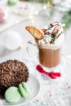 Affogato al [Hot] Cioccolato Italian Dessert Recipe | Festive Holiday Drinks for the whole family | Italian with a twist |Torrone ice cream |Nutella drizzle