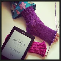 Townsend House: knitting and reading