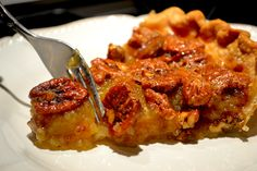 Pecan Pie recipe from my husband's grandmother.  Everyone in our family is nuts about this easy dessert.