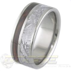 Another titanium and meteorite ring...over 4 billion years old.  Cool.