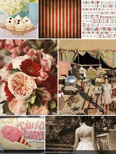 """Using this colour scheme. However, the theme will not be """"circus"""" but still have the same vintage vibe."""