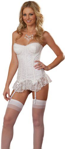 How steamy would this little ensemble make the wedding night? Ooo lala! This is the ultimate in sexy bridal lingerie.