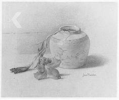2 lelies in pot 1911Rijksmuseum Twente