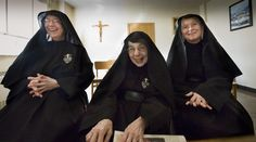 Passionist Nuns Sister Mary Veronica, Mother Mary Salvador and Sister Mary Elizabeth spoke to reporters last week from behind the grille at their Ellisville monastery. From their cloister the nuns have been praying for religious liberty. From the St. Louis Review.