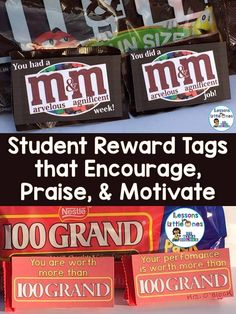 Find over 20 ideas for simple & special student rewards and tags that can be used to recognize their hard work & effort, improved behavior, achievement of a milestone, or to celebrate the completion of a big project or testing.