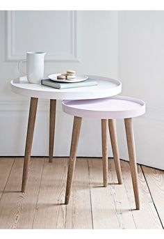 Lina Side Tables- Blush - Indoor Living