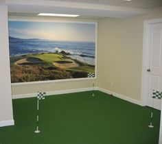 Indoor mini-golf course by B. C in Medina, OH #fun #man #games #home