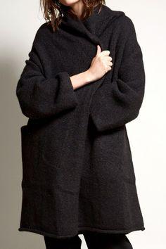 Lauren Manoogian Capote Coat in Black