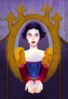 A Disney series based on The Language of Flowers!    For Snow White I chose a daisy, which means innocence. She is the most naive and innocent Disney Princess to me.   By spicysteweddemon.deviantart.com on @deviantART