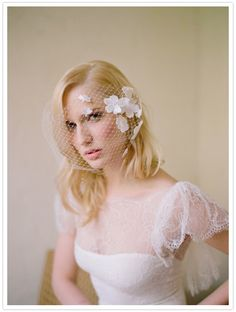 {Marchesa wedding gown, Platt Boutique engagement ring, Miriam Haskell earrings, Twigs and Honey Veil}