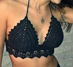 Top Crop Crochet Tejido Artesanal !!!! - $ 380,00