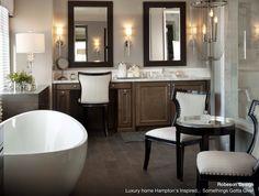 Robeson Design Luxury Master Bathroom - transitional - bathroom - san diego - by Robeson Design Transitional Home Decor, Transitional Living Rooms, Transitional Bathroom, Transitional Lighting, Transitional Style, Bathroom Seat, Zen Bathroom, Houzz Bathroom, Bathroom Tiling