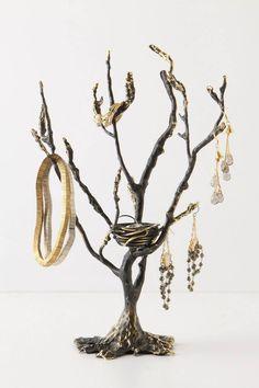 Anthropologie's Wish tree jewelry holder...especially the bird's nest ring cradle