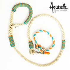 Coordinated natural rope collar-leash and ecological by Aquisette