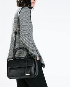 CROC PATTERN MINI CITY BAG-View all-Handbags-WOMAN | ZARA United States