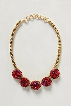 LOVE this necklace..reminds me of my Valentine Birthday!  Bermuda Rose Bib Necklace #anthropologie