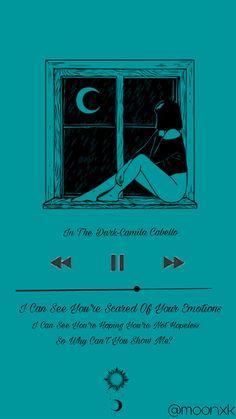 In The Dark - Camila Cabello Dark Lyrics, Cool Lyrics, Music Lyrics, Love Song Quotes, Lyric Quotes, Love Songs, Camila Album, Fifth Harmony Camren, Bestie Gifts