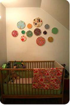 Embroidery hoop nursery decor cribs 54 ideas for 2019 Embroidery Hoop Nursery, Wooden Embroidery Hoops, Embroidery Hoop Art, Embroidery Ideas, Embroidery Fabric, Embroidery Techniques, Fabric Wall Decor, Baby Wall Decor, Diy Wall