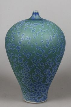 Hein Severijns vase with blue and green crystalline glaze