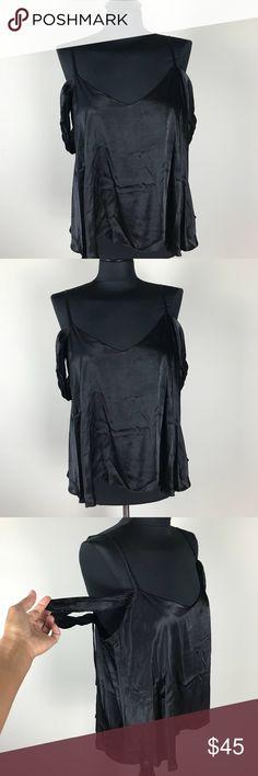 Topshop Off-Shoulder Top NWT Black Topshop drape/Off Shoulder Sleeve Top. Silky material top. Topshop Tops Blouses