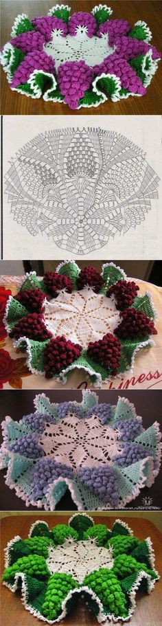Crochet Beautiful Doily Free P Gorgeous Rosebud Stitch to cro Crochet Patterns Vintage Napkin 'Bunches of grapes'. The scheme gorgeous doesnt look like patterns 10 Crochet Motif Pins you might like Crochet Motifs, Crochet Diagram, Crochet Art, Thread Crochet, Love Crochet, Irish Crochet, Crochet Flowers, Crochet Stitches, Doily Patterns