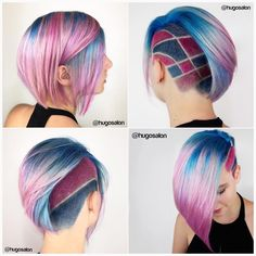 The Most Stylish Undercuts for WomenUndercuts can be used on short, medium and even long hair. Undercut Hairstyles, Funky Hairstyles, Pretty Hairstyles, Men Undercut, Hairstyle Men, Formal Hairstyles, Creative Hair Color, Cool Hair Color, Pink Hair
