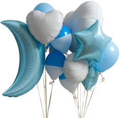 Baby Blue Baby Shower Crazy Balloon Bunch by Bubblegum Balloons, the perfect gift for Explore more unique gifts in our curated marketplace. Baby Balloon, Baby Shower Balloons, The Balloon, Foil Balloons, Latex Balloons, Bubblegum Balloons, Shades Of Blue, Bright Pink, Baby Blue