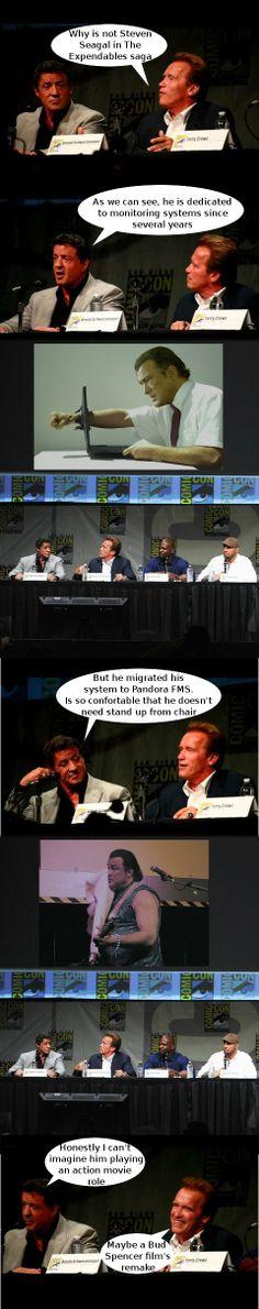 Pandora Meets Steven Seagal (05th October 2012)