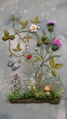 Wonderful Ribbon Embroidery Flowers by Hand Ideas. Enchanting Ribbon Embroidery Flowers by Hand Ideas. Embroidery Needles, Hand Embroidery Stitches, Silk Ribbon Embroidery, Crewel Embroidery, Embroidery Techniques, Cross Stitch Embroidery, Embroidery Patterns, Machine Embroidery, Embroidery Supplies