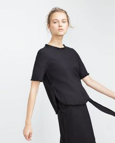 FRAYED COTTON TOP-View all-Tops-WOMAN | ZARA United States