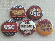 Looooove these game day buttons!!! A must have!!!! USC <3