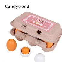 CIKOO Kids Kitchen toys Wooden Lovely Eggs Box Toy Food Pretend Play House Kitchen Food Toys for Children Baby Girl Magnetic Building Blocks, Baby Girl Toys, Baby Girls, Toy Kitchen Set, Magnetic Toys, Pretend Play, Role Play, Best Kids Toys, Birthday Gifts For Kids