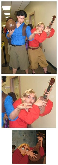 "I am Miguel.. and this is Tulio.. They call us ""Miguel and Tulio"". Best costume ever. @Michelle Rose"